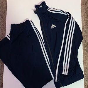 Navy Adidas Tracksuit Set || Small